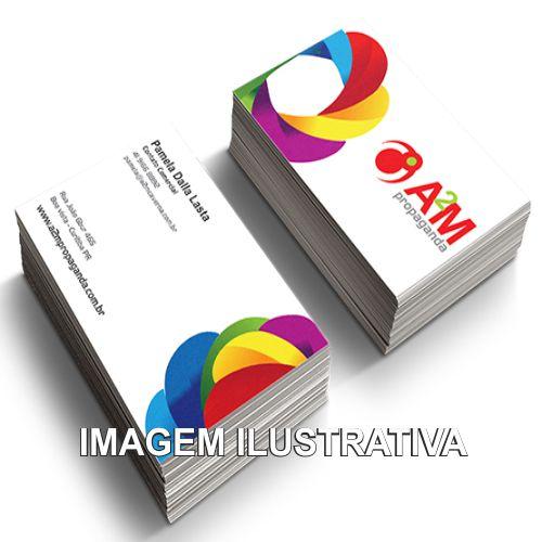 CARTÕES DE VISITAS PERSONALIZADOS / COR 4X0 / TAM. 9.1cm X 5.1cm